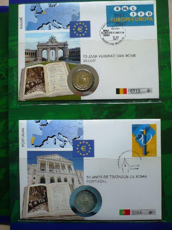 Numisbriefe 50 Jahre Römische Verträge 12 X 2 Euro In Sammelmappe